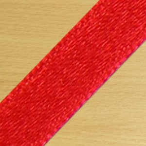 15mm Satin Ribbon Red
