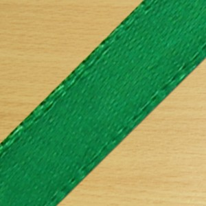 15mm Satin Ribbon Green