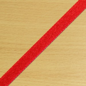 3mm Satin Ribbon Red