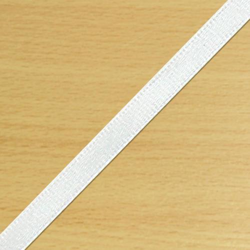 3mm Satin Ribbon White