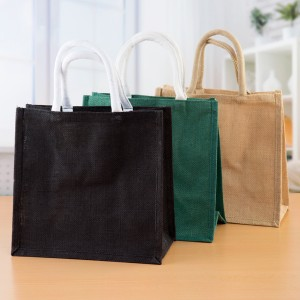 Pinflair Jute Bags - Natural, Black & Green