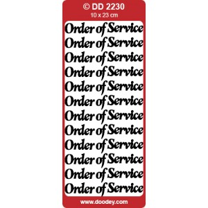 Order Of Service Outline