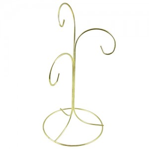 Gold Triple Hanging Wire Stand