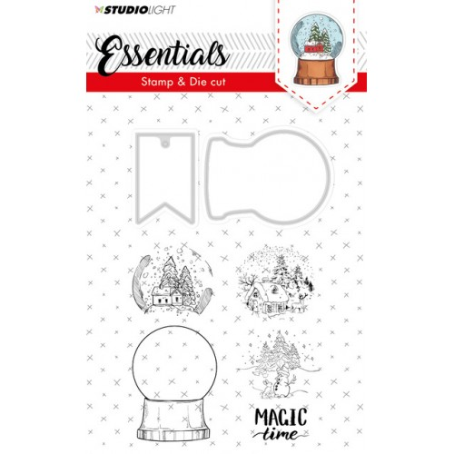 Studio Light Snow Globe Stamp & Die 18
