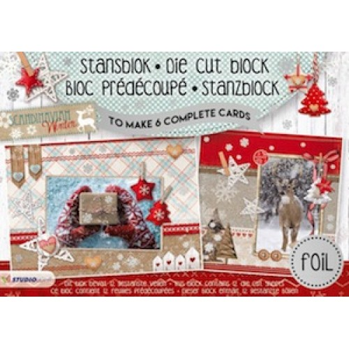 Studio Light A5 Cardmaking Book - Scandinavian Winter