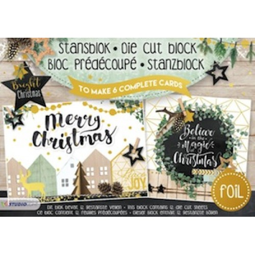 Studio Light A5 Cardmaking Book - Bright Christmas