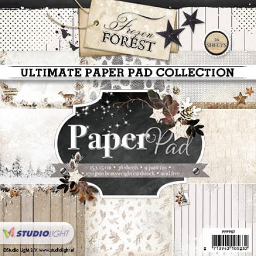 Studio Light Paper Pad - Frozen Forest