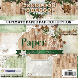 Studio Light Paper Pad - Woodland Winter