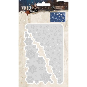 Studio Light Winter Snowflakes & Stars Wreath 105