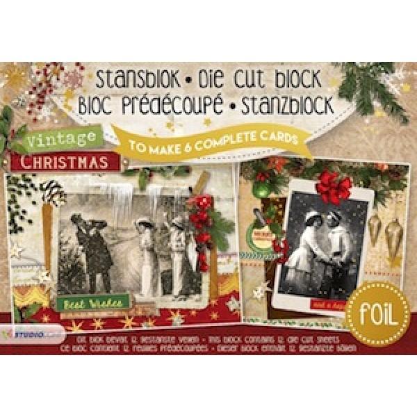 studio light a5 cardmaking book vintage christmas