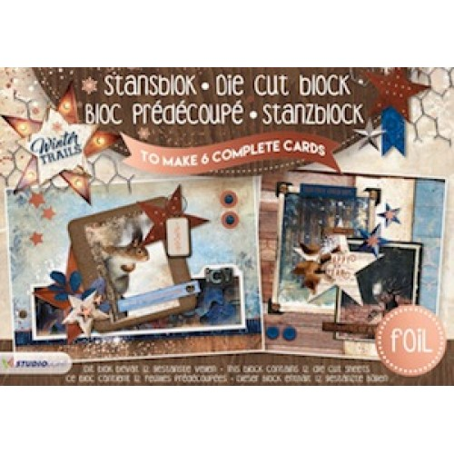 Studio Light A5 Cardmaking Book - Winter Trails