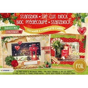 Studio Light A5 Cardmaking Book - Traditional Christmas