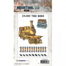 Industrial Stamps Enjoy the Ride STAMPIN252