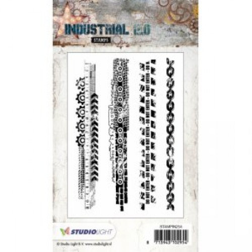 Industrial Stamps Border Stamps STAMPIN254