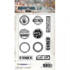Industrial Stamps Words in Circles and Rectangles STAMPIN255
