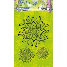 Mixed Media Fine Flowers STAMPMM214