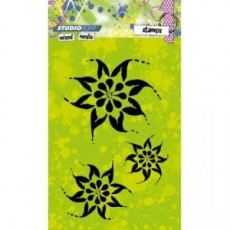 Mixed Media Bold Flowers STAMPMM215