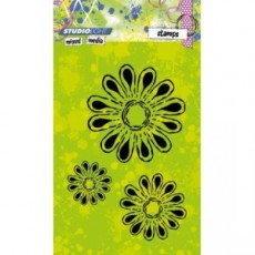 Mixed Media Diasy Flowers STAMPMM216