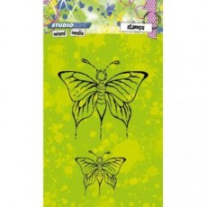 Mixed Media Butterflies STAMPMM217