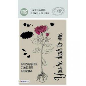 STAMPVM13 - Chrysanthemum Flower Stamp