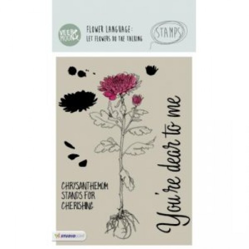 STAMPVM13 - Chrysanthemum Flower Stamp