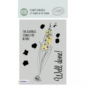 STAMPVM16 - Gladiolus Flower Stamp