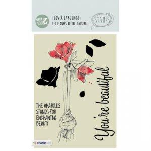 STAMPVM18 - Amaryllis Flower Stamp