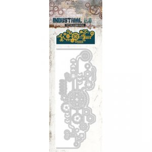 Studio Lights Industrial Card Shape and Cogs STENCILIN68