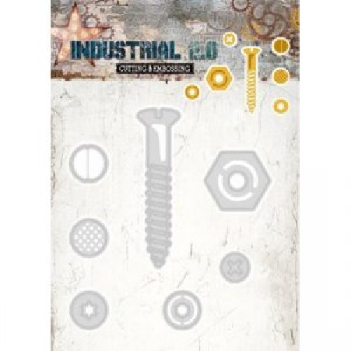 Studio Lights Industrial Screw, Bolts and Rivets STENCILIN71