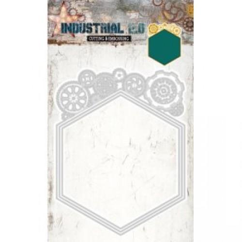 Studio Lights Industrial Hexagon Nesting dies with Cogs STENCILIN72