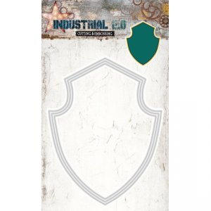 Studio Lights Industrial Shield Nesting Dies STENCILIN73