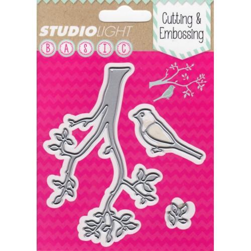 Studio Lights Bird and Branch STENCILSL25