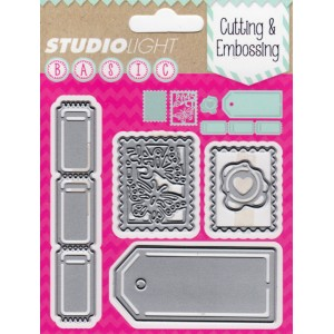Studio Lights Stamps and Tickets STENCILSL26