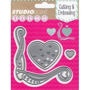 Studio Lights Hearts STENCILSL29