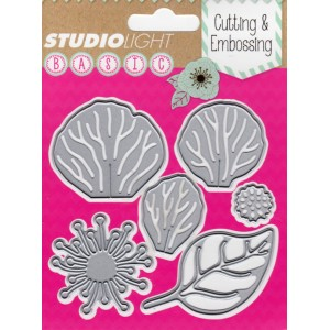 Studio Lights Flower and Leaf STENCILSL41