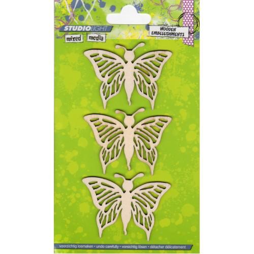 Mixed Media Butterflies WOODMM04