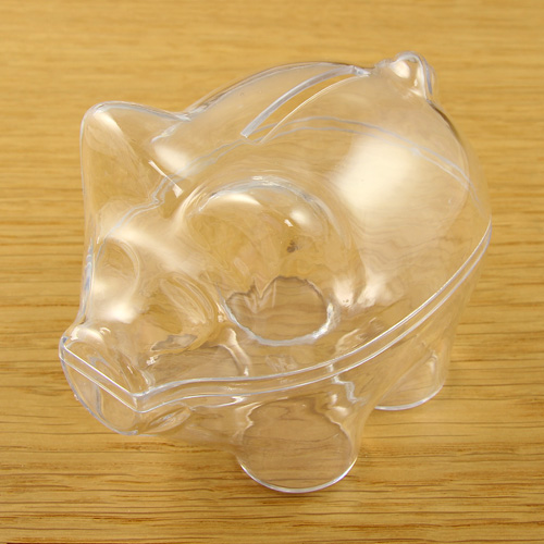 Acrylic Piggy Bank 90mm