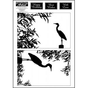 Background Artist Herons