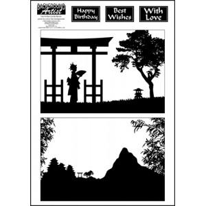 Background Artist Geisha/Mountains