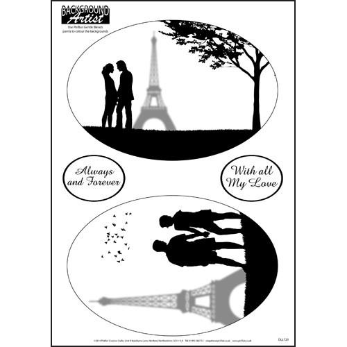 Background Artist Oval Love in Paris