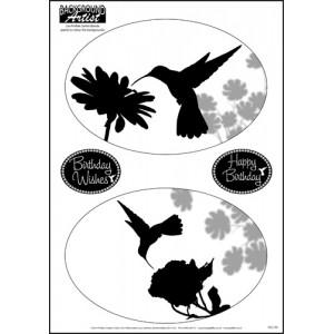 Background Artist Oval Humming Birds