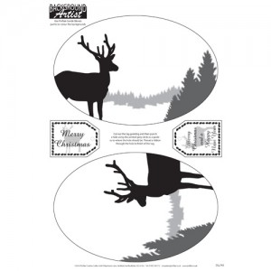Background Artist Oval Reindeer