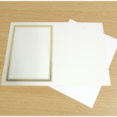 Gold Foiled Card Blank