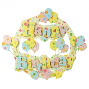 Happy Birthday Banner With Fabric