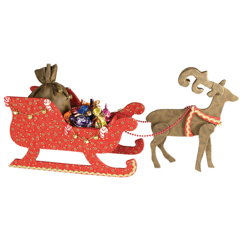 Sleigh With Reindeer Cartonnage Only