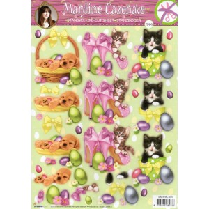 Misc Decoupage - Cats in Shoes