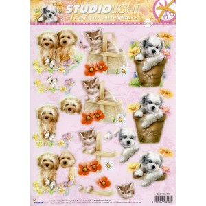 Misc Decoupage - Cute Cats & Dogs