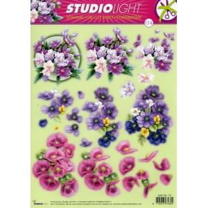 Floral A4 Die Cut