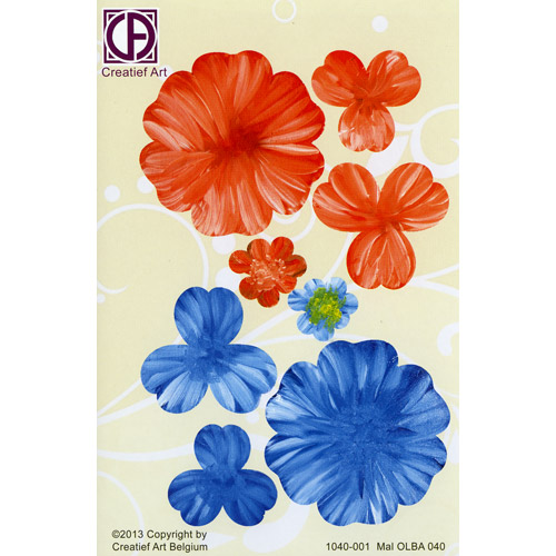 Floral Background Paper (STL040-001)