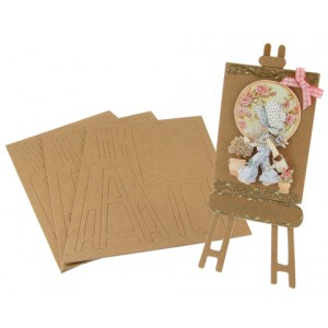 Small Easels Brown